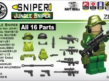 Minifig.Cat Jungle Sniper