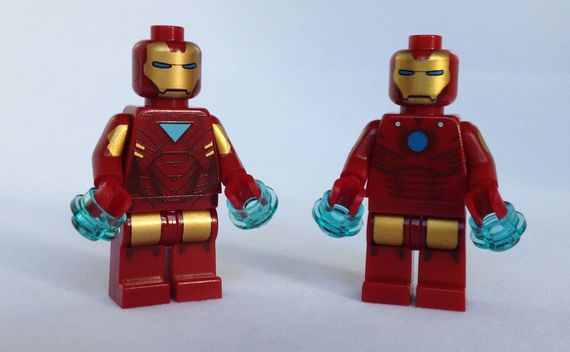 LEGO And Christo Iron Man Minifigures Comparison Review