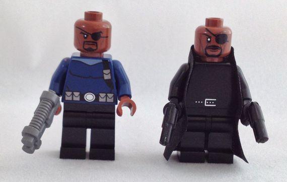 LEGO Marvel Avengers Nick Fury Minifigures