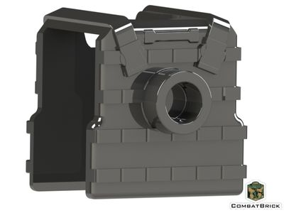 CombatBrick Plate Carrier Body Armor Black Back