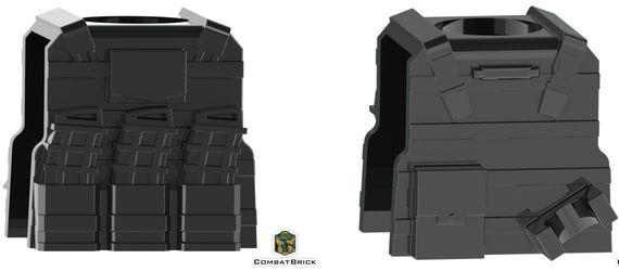 CombatBrick Reversable Vest with PMags Black