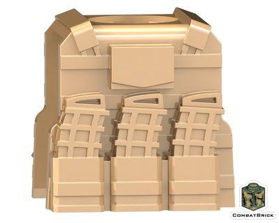 CombatBrick Reversable Vest with PMags Dark Tan
