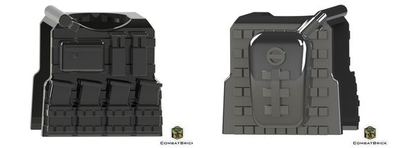 CombatBrick Vest With Mags and Camelbak Hydration Pack Black
