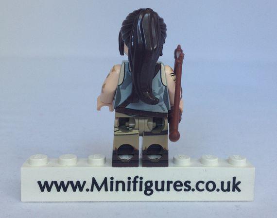 Lara Croft BrickUltra Custom Minifigure Back