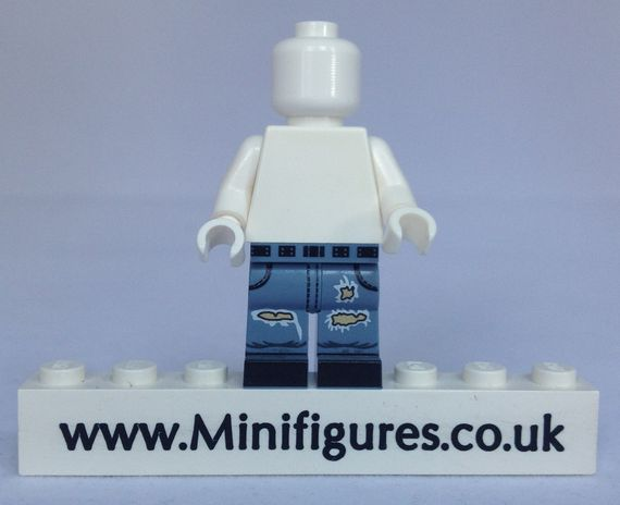 MinifigsRus Ripped Blue Jean Legs
