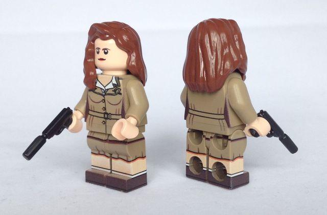 Agent Carter BrickUltra Custom Minifigure
