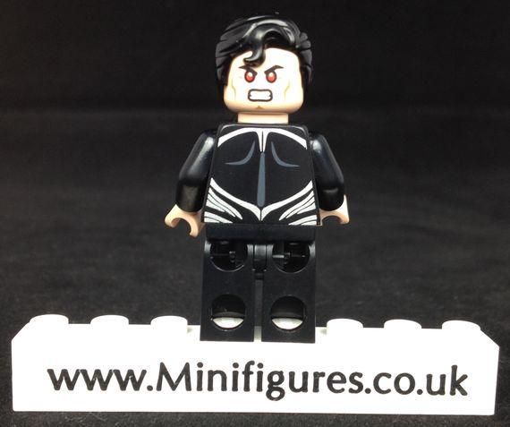 Black Suit Superman LeYiLeBrick Custom Minifigure Back