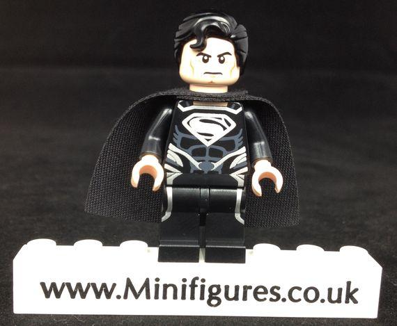 Black Suit Superman LeYiLeBrick Custom Minifigure