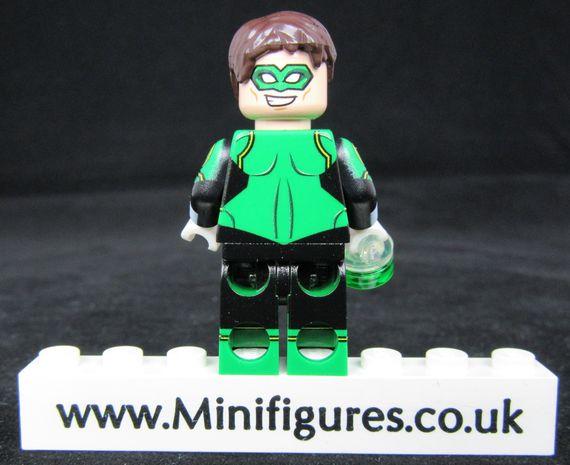 Green Lantern LeYiLeBrick Custom Minifigure Back