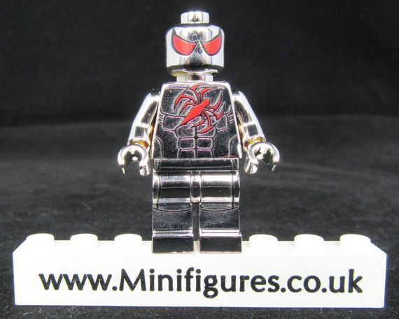 Scarlet Spider Chrome LeYiLeBrick Custom Minifigure