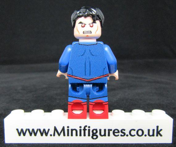 Superman 3000 LeYiLeBrick Custom Minifigure Back