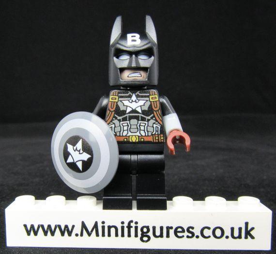 Captain Batman Black Onlinesailin Custom Minifigure