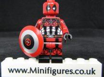 Deadpool Captain America Dragon Brick Custom Minifigure