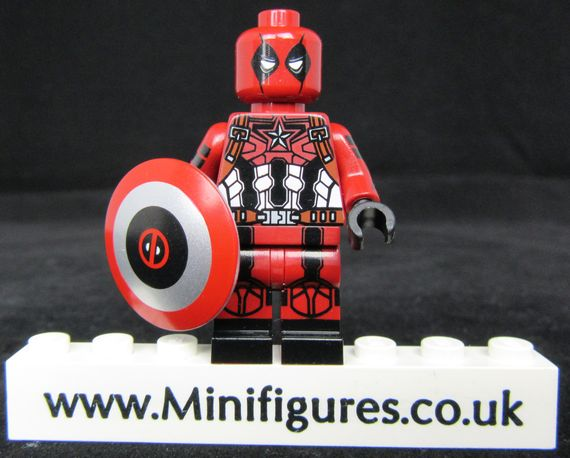 Deadpool Captain America Dragon Brick Custom Minifigure