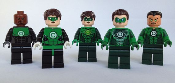 DC Comics LEGO Green Lantern Minifigures Review