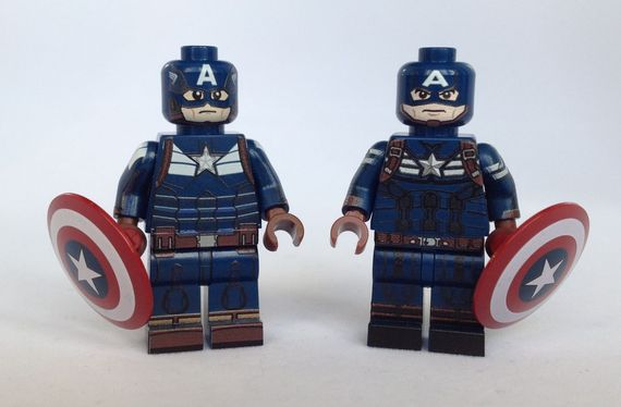 Captain America Custom Minifigure Comparison Review