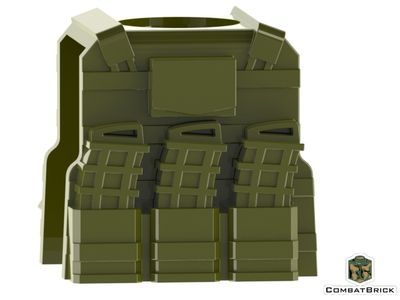 CombatBrick Reversable Vest with Pmags Military Green