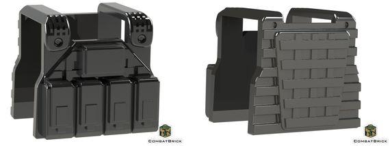 CombatBrick Special Forces Plate Carrier Vest Black