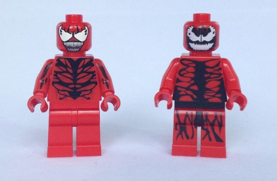 Carnage Custom Minifigure Comparison Review