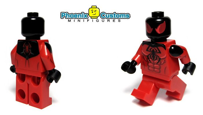 Crimson Arachnid Custom Minifigure