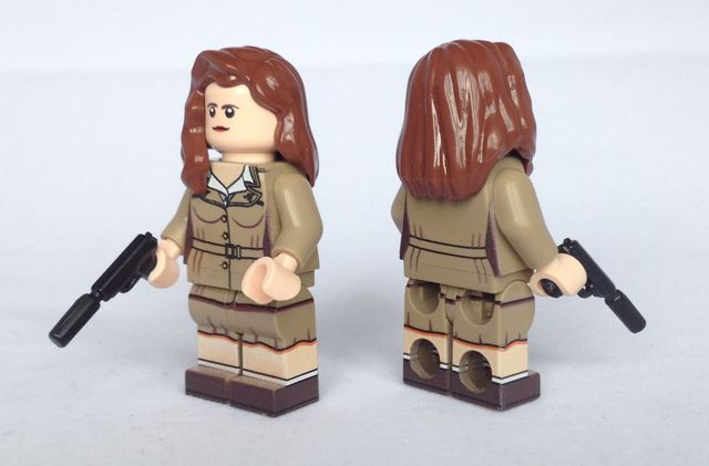 Agent Carter BrickUltra Custom Minifigure