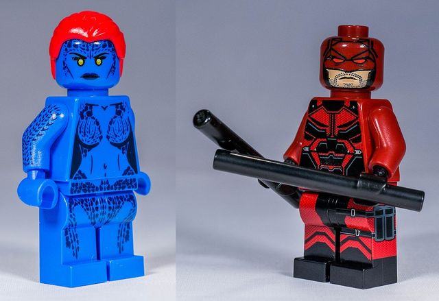 Mystique & Daredevil Custom Minifigures