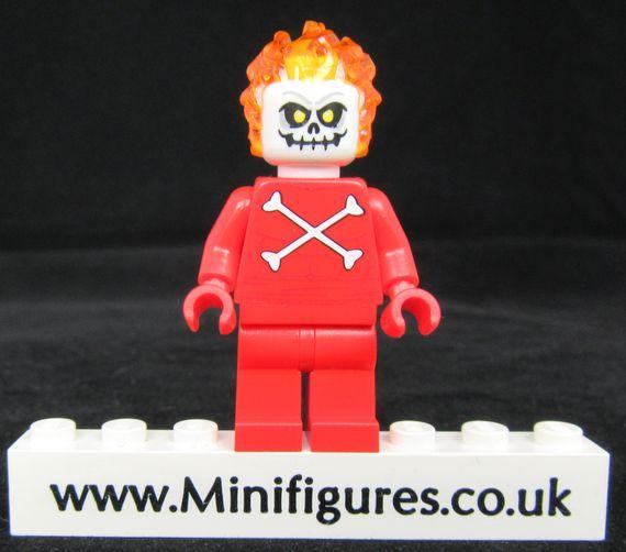 Blazing Skull Custom Minifigure