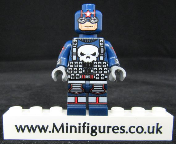 Punisher Cap LeYiLeBrick Custom Minifigure