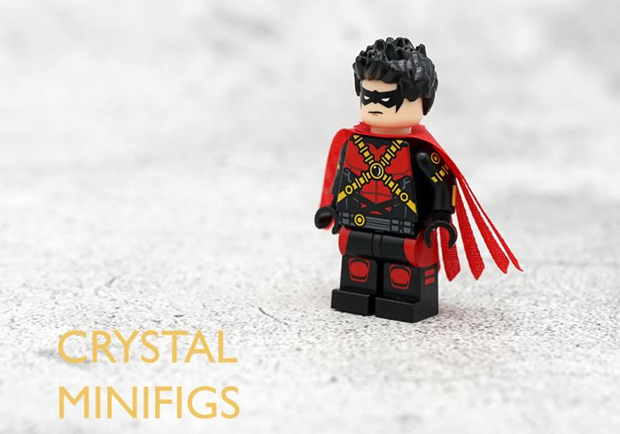 Red Robin Crystal Minifigs Custom Minifigure