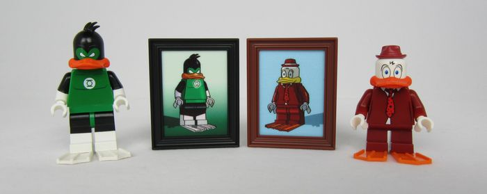 Emerald Duck Diamond CustomBricks Custom Minifigure
