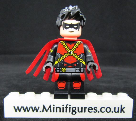 Red Robin Crystal Minifigs Custom Minifigure