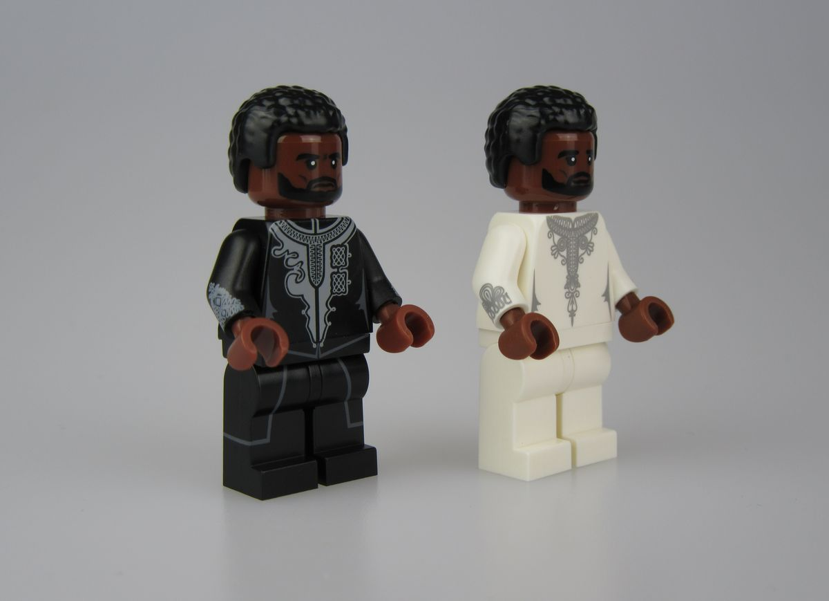 Black Panther White Jacket Crystal Minifigs Custom Minifigure
