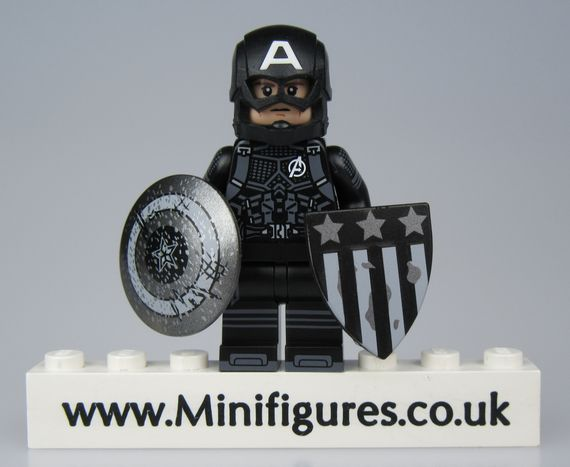 Captain America Black Suit Custom Minifigure