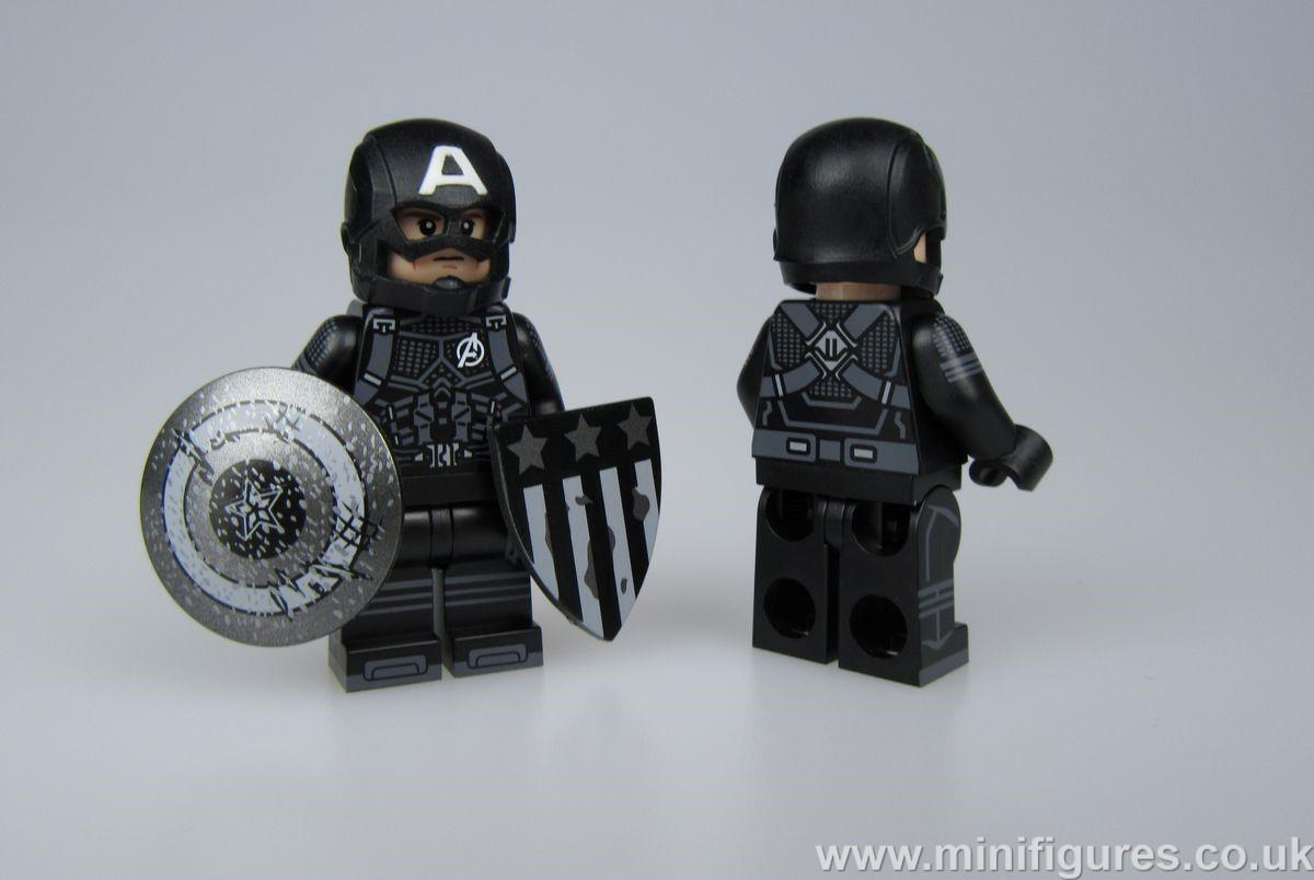Captain America Black Suit Custom Minifigure
