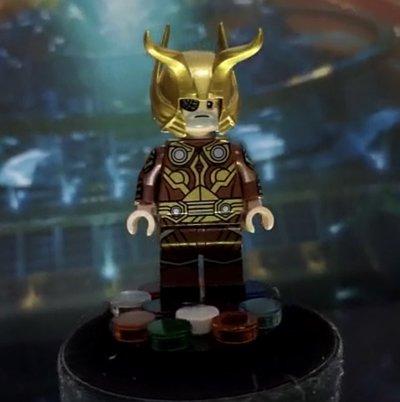Odin Borson Funny Brick Custom Minifigure