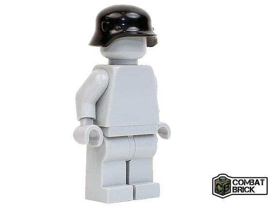CombatBrick WWII German Soldier Helmet Stahlhelm Black