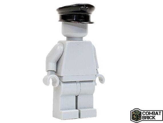 CombatBrick WWII Officer Visor Cap Black