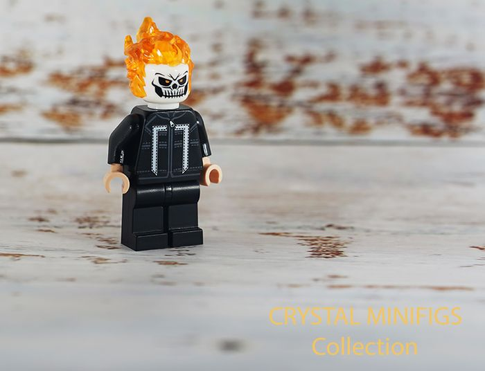 Ghost Rider Crystal Collecton Custom Minifigure