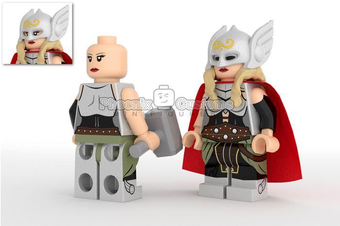 Lady Hammer Wielder Custom Minifigure