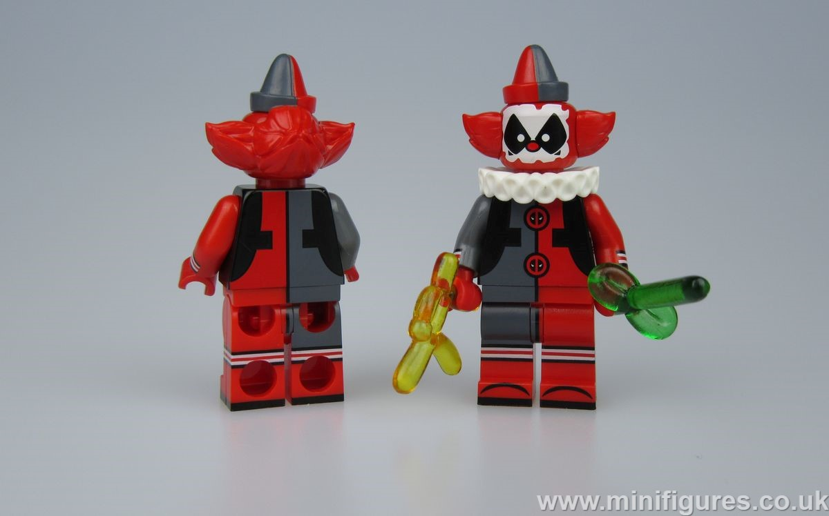 Clown Deadpool MaxBrick Custom Minifigure