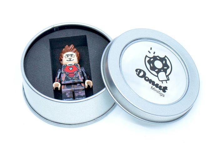 Tony Suit Up Transforming Mode Donut Custom Minifigure