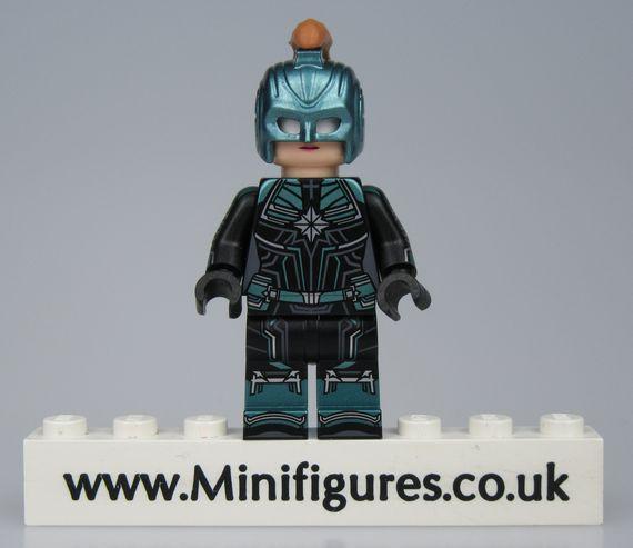 Captain Marvel Blue Lab9 Custom Minifigure