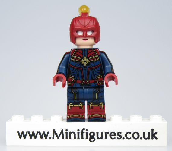 Captain Marvel Red Lab9 Custom Minifigure