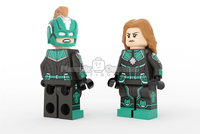 Captain Marvel Kree Custom Minifigure