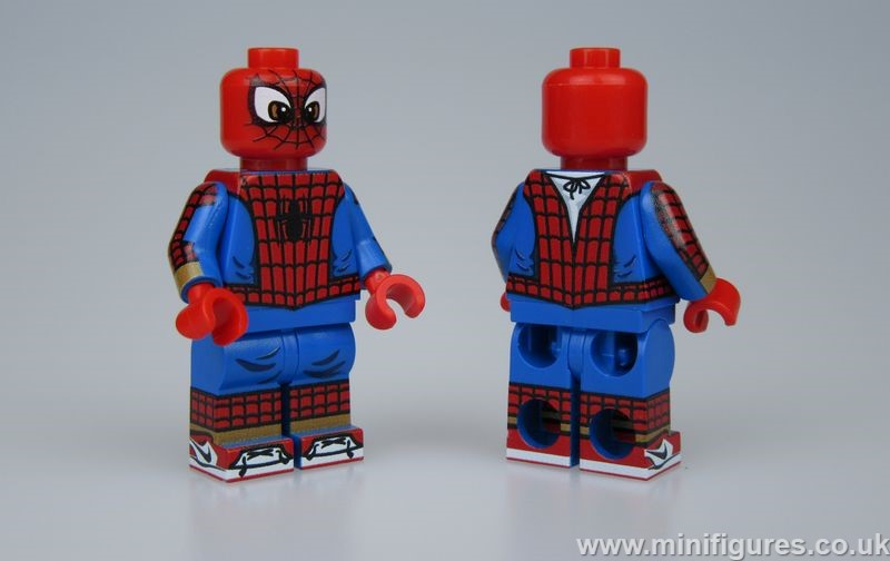 Animated Spider-Man LeYiLeBrick Custom Minifigure
