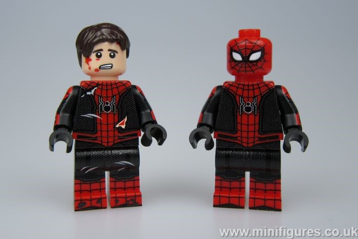 Battle Damage Spider-Man LeYiLeBrick Custom Minifigures