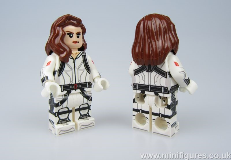 Black Widow White LeYiLeBrick Custom Minifigure