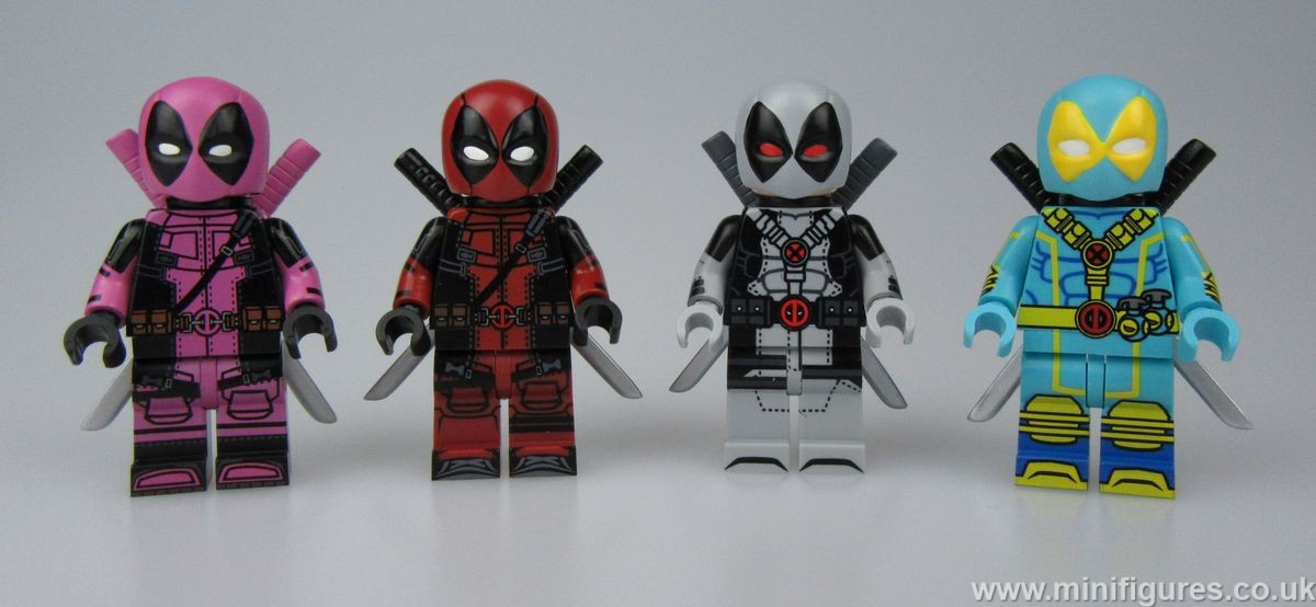 Grey Deadpool UG Custom Minifigure