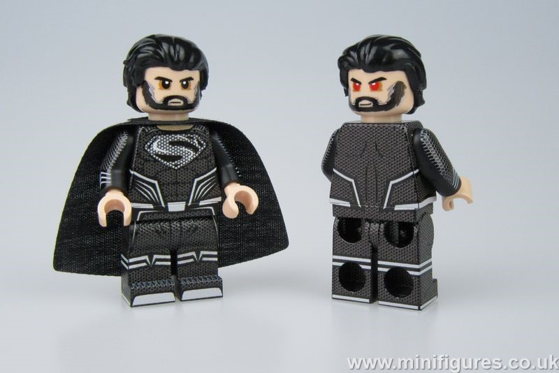 Superman Black LeYiLeBrick Custom Minifigure