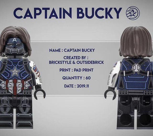 Captain Bucky BrickStyle Custom Minifigure